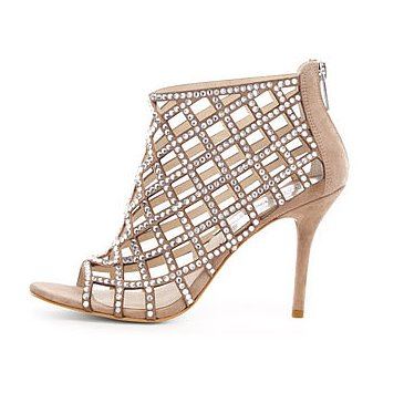 Your feet will definitely get second looks if you slip them in these Michael Michael Kors Yvonne crystallized cage booties ($295).
