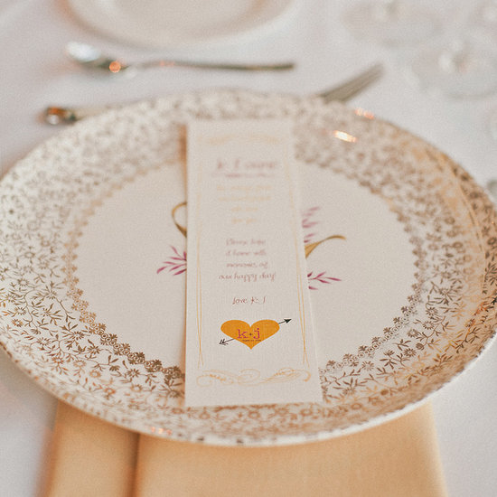Each guest found his or her own vintage plate to take home as a favor. Source: Sweet Little Photographs