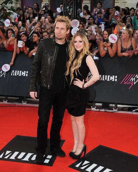 Chad Kroeger and Avril Lavigne worked the red carpet together.