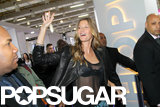 Gisele Bündchen waved to fans in Brazil.