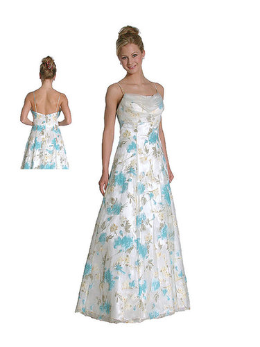 IS-lm-c2261, Beaded Floral Princess Cut Satin Evening Dress-Satin-Boutique.com