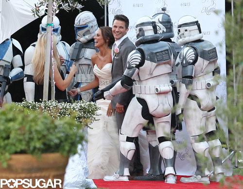Matt Lanter married Angela Stacy in a Malibu reception in June 2013.