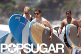 Tom Cruise celebrated Father's Day by paddleboarding in Malibu, CA, with his son, Connor.