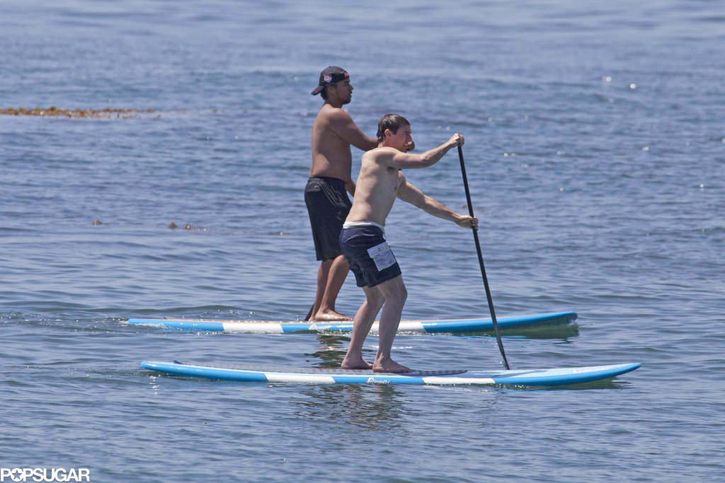 Tom Cruise spent Father's Day shirtless on paddleboards with his son, Connor Cruise.
