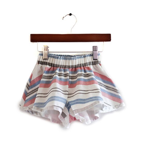 Boy + Girl Striped Denim Play Shorts