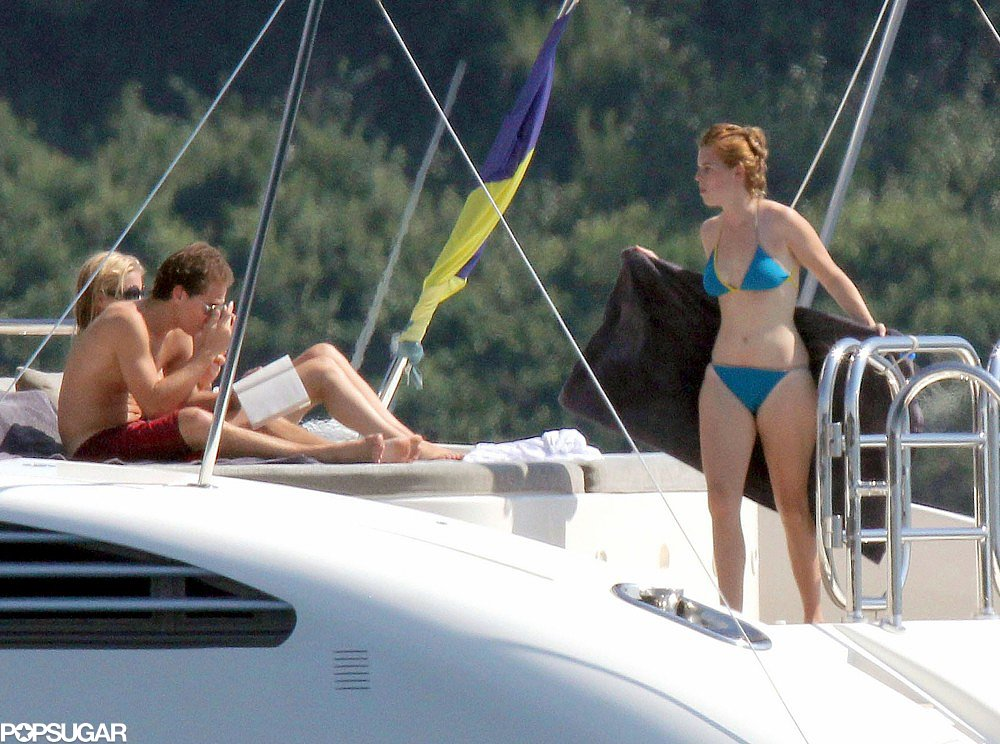 Princess Beatrice wore a blue bikini during a trip to Cannes in July 2011.