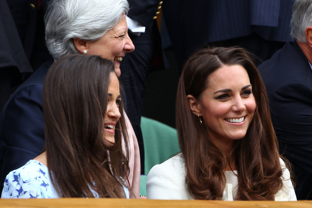 Kate Middleton and Pippa Middleton met up to watch the Wimbledon men's singles finals on July 2012.