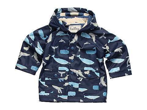 Hatley Kids Blue Whales Raincoat