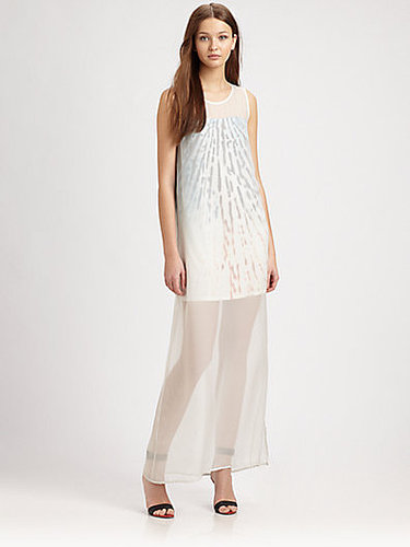 AIKO Agathe Semi-Sheer Dress