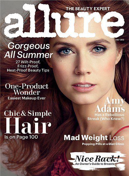 Amy Adams looked flawless on the July 2013 cover of Allure magazine.  Source: Norman Jean Roy/Allure