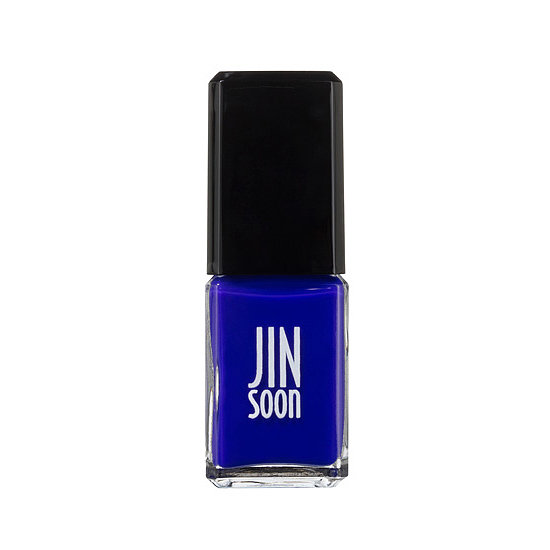 Go for a bold statement with JINsoon Nail Lacquer in Blue Iris ($18), a striking shade of cobalt blue.