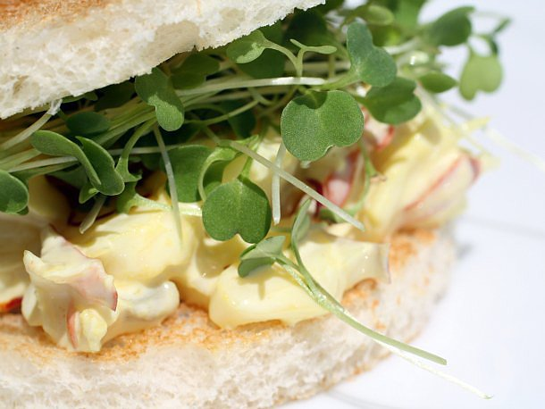 Saffron Lobster Tea Sandwiches