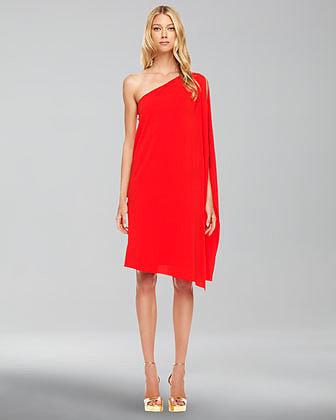 Michael Kors Matte-Jersey Toga Dress