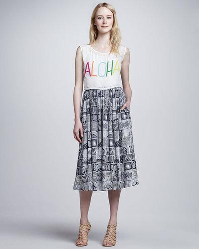 Mara Hoffman Long Patchwork Gypsy Skirt