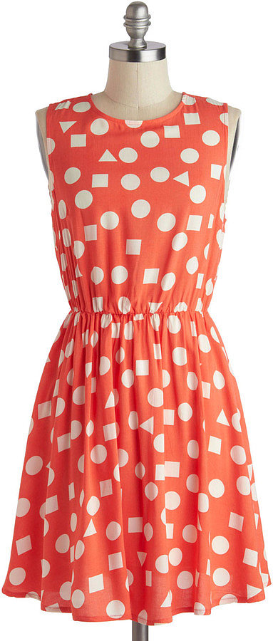 Polka dots feel like a retro '80s throwback on this ModCloth style ($50) thanks to some triangles peppered in the play.