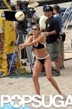 Gabrielle Reece filmed a beach volleyball scene for Cloud Nine in May 2004 in Santa Monica.