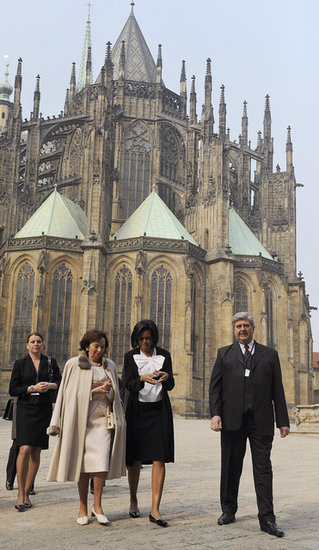 In April 2009, First Lady Michelle Obama visited the Saint Vitus Cathedral in Prague.
