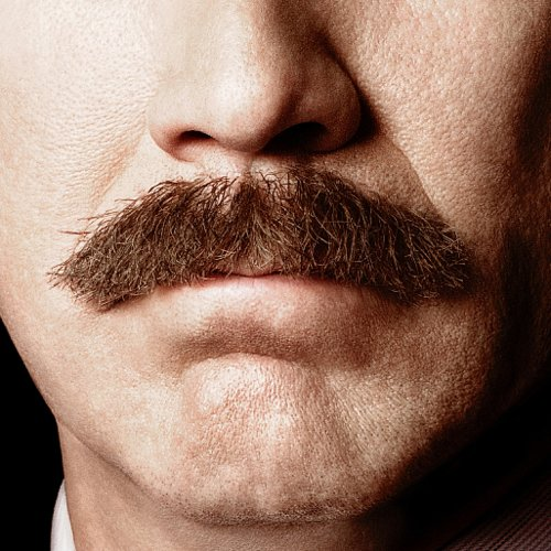 Anchorman 2 Teaser Poster With Ron Burgandy Moustache