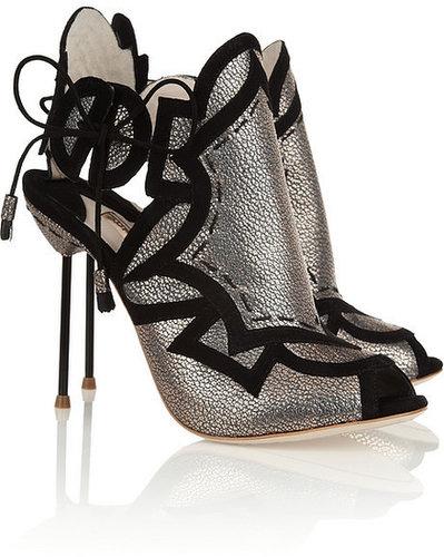 Sophia Webster Cutout metallic leather sandals