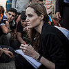 Angelina Jolie With Syrian Refugees at Jordan Border