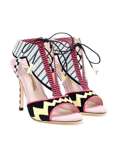 SOPHIA WEBSTER Leather and Suede Aztec Sandals