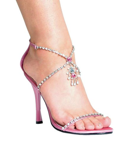 "Ellie Shoes E-457-Mandy, 4.5"" Heel Closed Heel Rhinestone Sandal-Satin-Boutique.com"