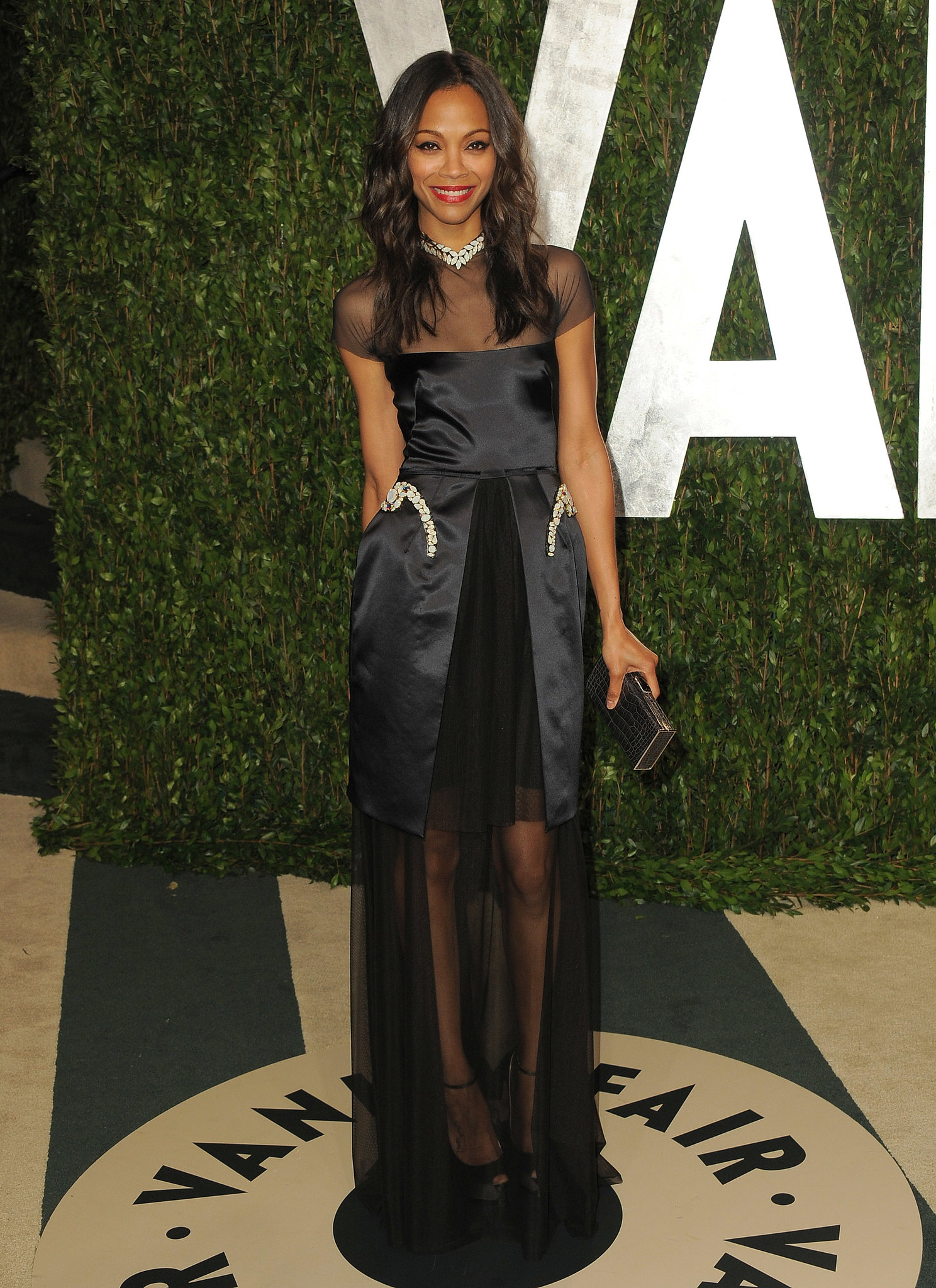 She wowed at the 2012 Vanity Fair Oscars party in this elegant (and sheer) Marios Schwab gown.