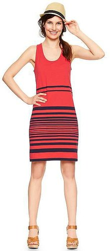 Slub variegated stripe dress