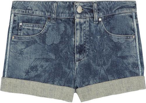 Stella McCartney Hawaiian-print stretch-denim shorts