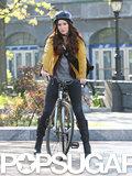 In May, Megan Fox filmed scenes for Teenage Mutant Ninja Turtles in NYC.