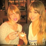 Jessica Alba sipped on sake with a friend. Source: Instagram user jessicaalba
