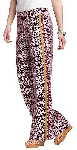 Tall Marisa Wide Leg Linen Pants in Stencil Geo Print