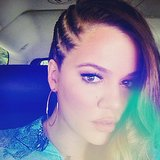 Khloé Kardashian showed off a sweet braided hairstyle and thanked her hair-and-makeup team. Source: Instagram user khloekardashian