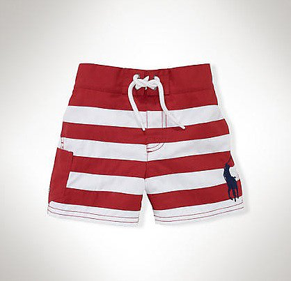 There's something so classically nautical about Ralph Lauren's Tulum Striped Swim Trunks ($35, originally $45).