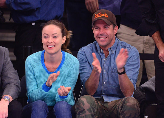 Olivia Wilde and Jason Sudeikis cheered on the NY Knicks when the y played the Indiana Pacers in May during the playoffs.
