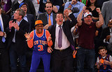 Spike Lee and company could not hold back their enthusiasm during a NY Knicks playoff game in May 2013.