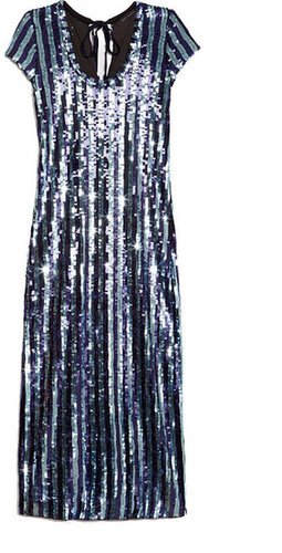 Preorder Marc Jacobs Stretch Stripe Sequin Midi Dress