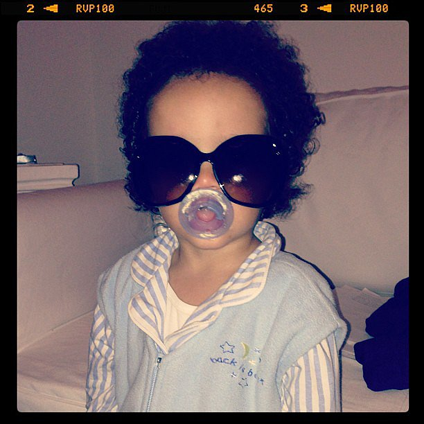 Mariah Carey shared this great picture of her son, Roc, doing his best Lenny Kravitz impression.  Source: Instagram user mariahcarey