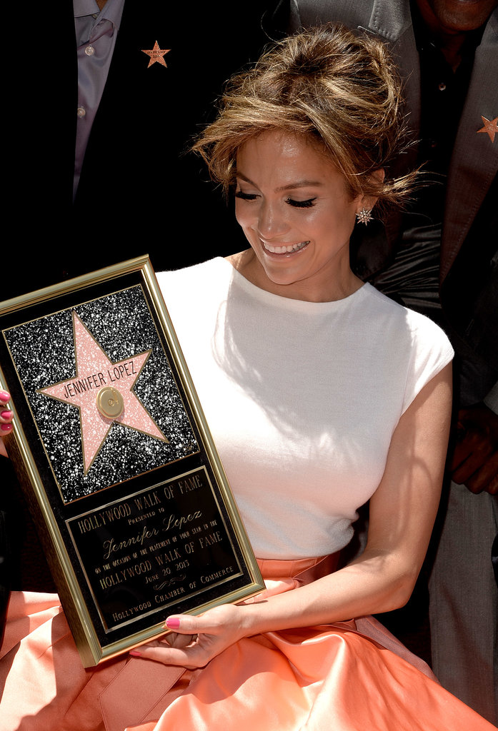 """J Lo Goes From """"Jenny From the Block"""" to the Hollywood Walk of Fame"""
