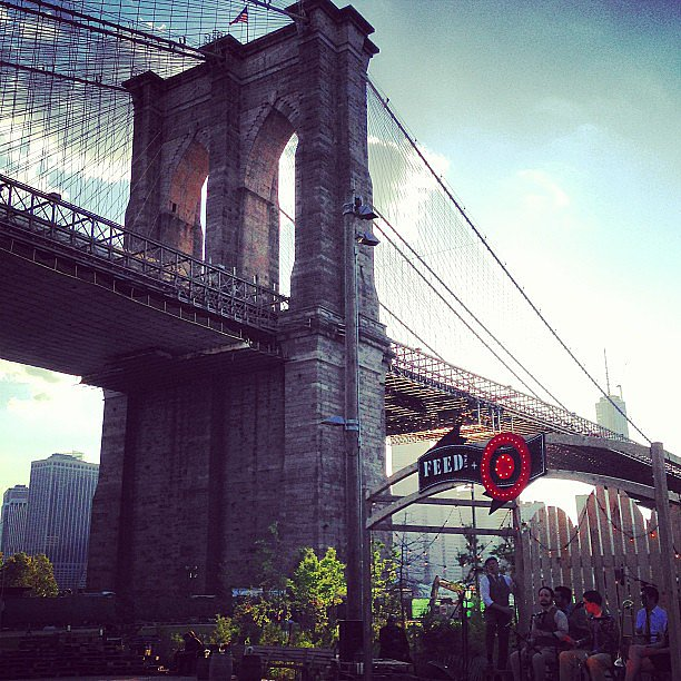 Really, this was the perfect night to eat dinner outside . . . and under the Brooklyn Bridge.