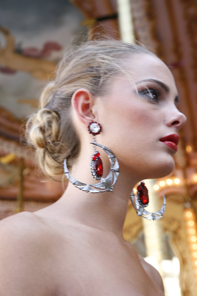 A closer look at the amazing Halaby earrings ($671).