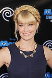 With a fishtail-braided updo and pink eye makeup, Beth Behrs was a breath of fresh air at the Monsters University premiere. Find out how to re-create her entire look with tips from Beth's hairstylist and makeup artist.