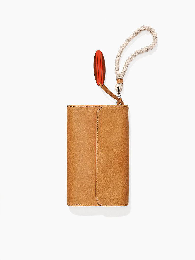 When packing for a weekend at the shore, versatility is key. This rope-handled clutch ($78) doubles as a crossbody when needed.
