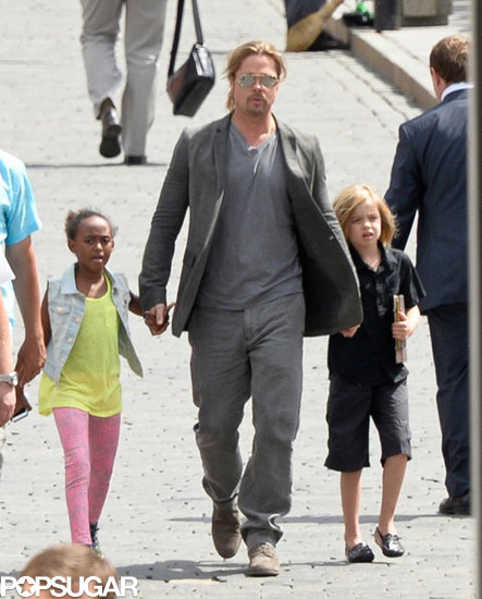 Brad Pitt visited Kremlin in Russia with his daughters Shiloh and Zahara.