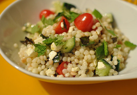 Couscous With Tomato, Feta, and Mint