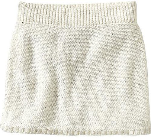 Girls Sequined Sweater-Knit Skirts