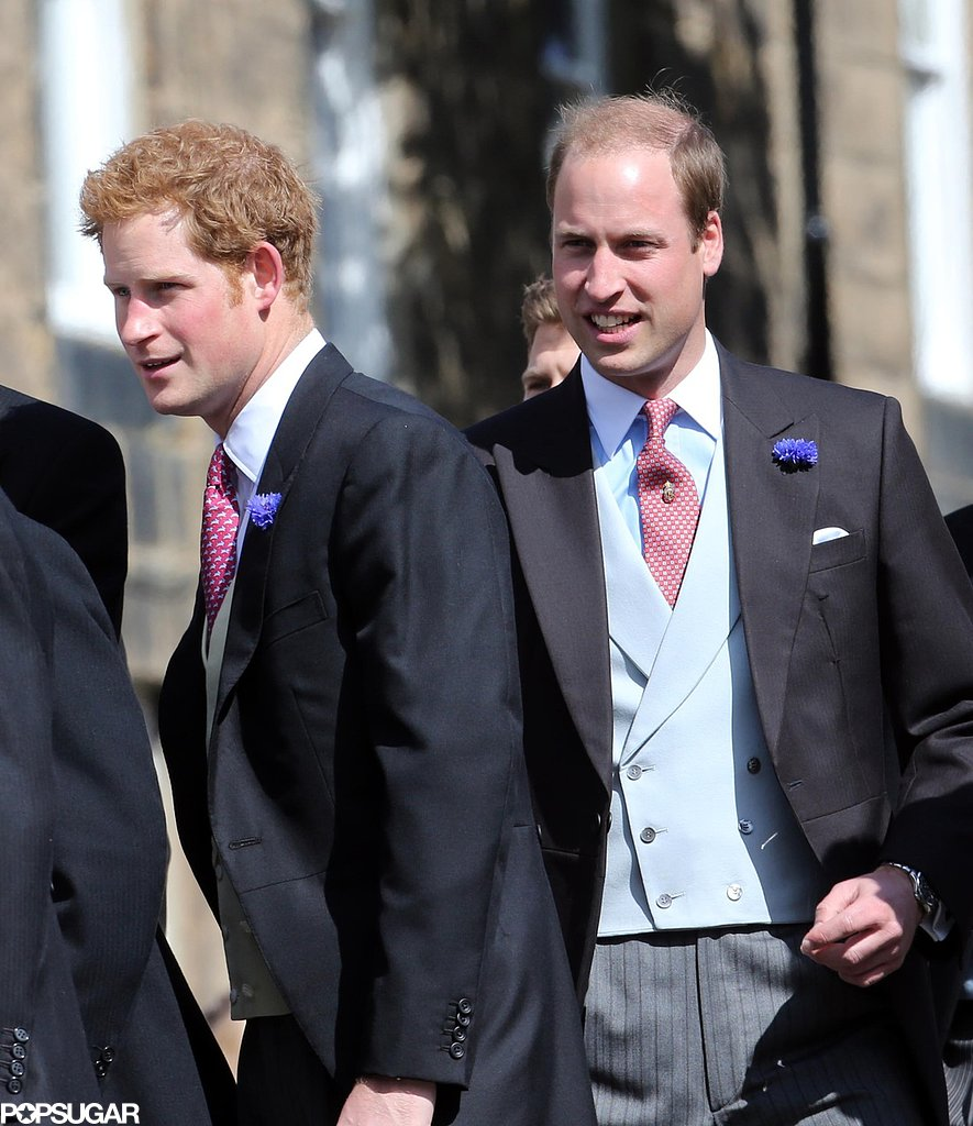 Princes William and Harry arrived in Northumberland, England in June 2013 for Lady Melissa Percy and Thomas van Straubenzee's royal wedding.