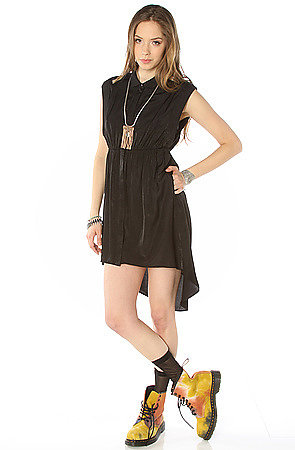 Obey The Black Rose Collared Dress