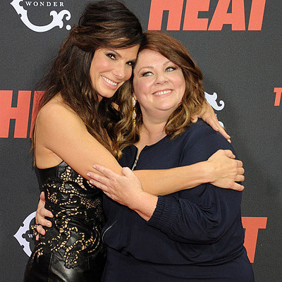 Sandra Bullock and Melissa McCarthy at the Heat Premiere