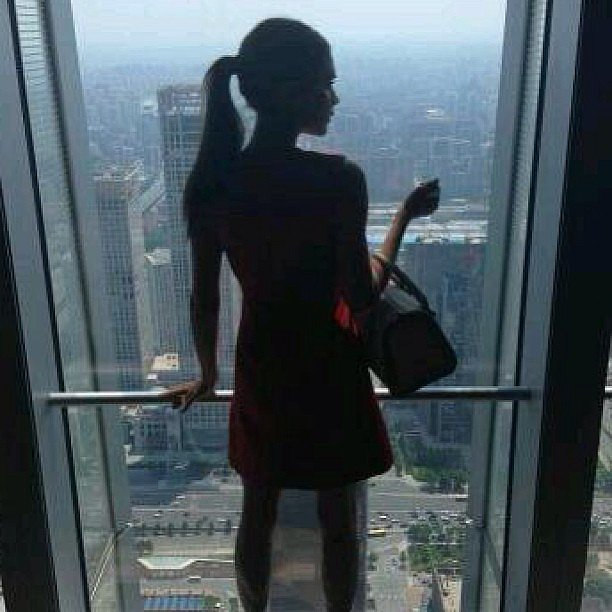 Victoria Beckham took in the sights of China. Source:Instagram user victoriabeckham